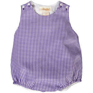 Purple Gingham Unisex Bubble AYR 3643 BU PU