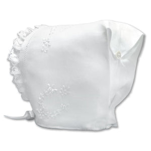 White Embroidered Clarissa Bonnet 3671 BB