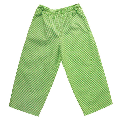 Green Gingham Pants with Pockets 13F 4542 A GR