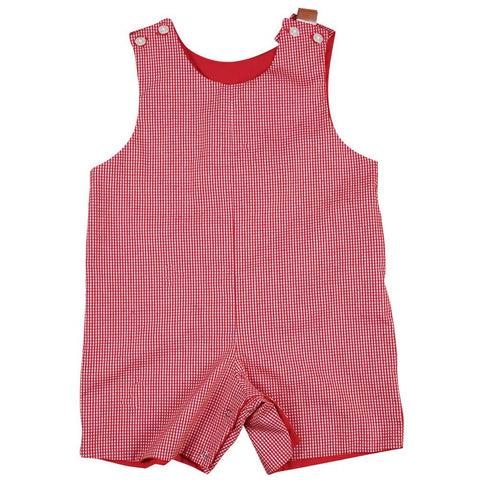 Red Reversible Gingham Romper AYR 4705 R RED