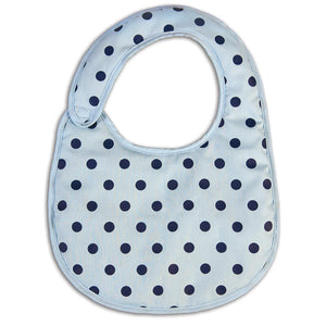Light Blue Polka Dot Bib 14F 5067 BIB LB
