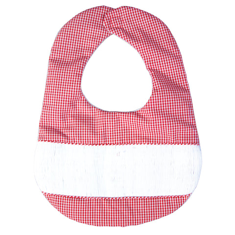 Ready-to-Smock Red Gingham & White Bib AYR 5100 BIB