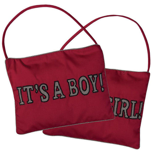 It's A Boy/Girl! Maroon Mini Pillow 5157
