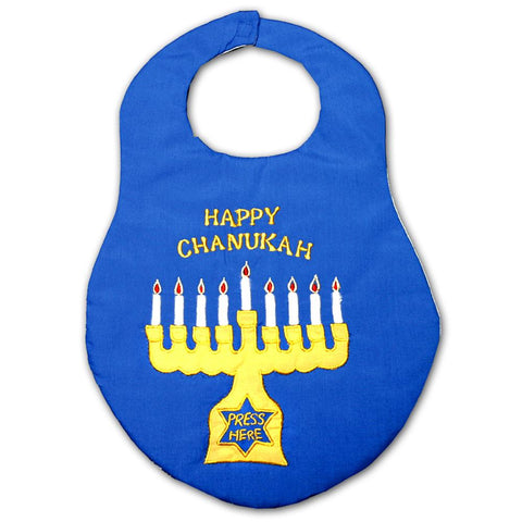 Blue Menorah Bib 5374