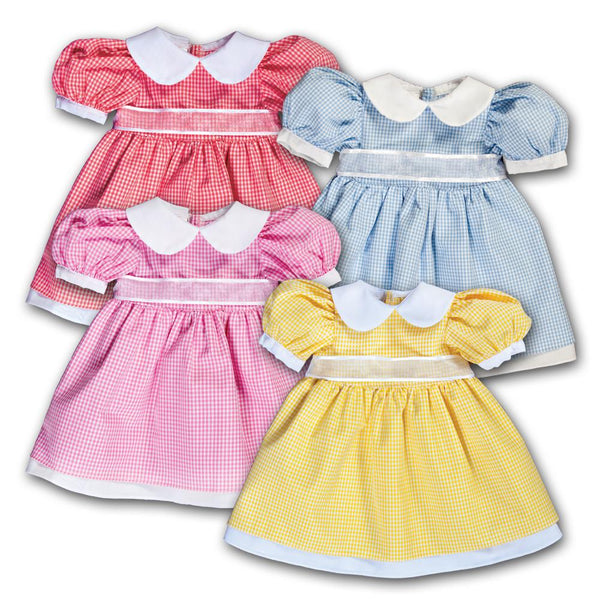 Gingham Pioneer Doll Dress 14SUX 5382 DD