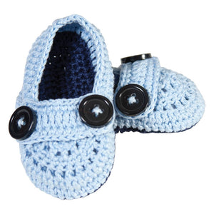 Blue & Navy Crochet Baby Shoes AYR 5635