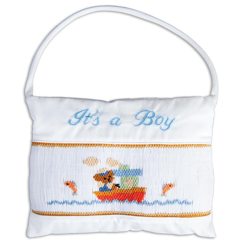 It's a Boy Tugboat Mini Pillow 5765 TB