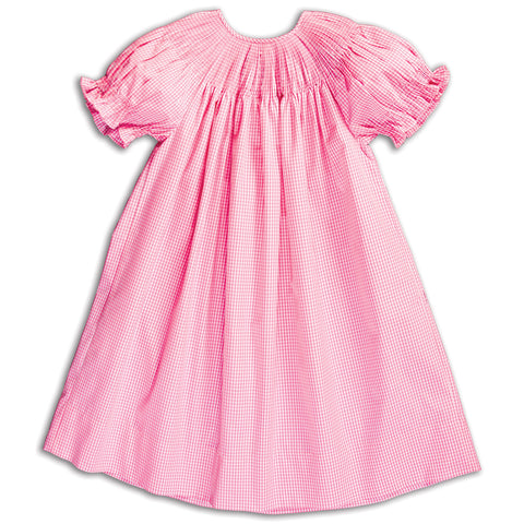 Pink Gingham Ready-to-Smock Bishop AYR 5844 A PNK
