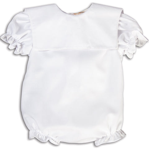 Girl White Bubble Square Collar w/White Trim 15AYR 5861 BUG