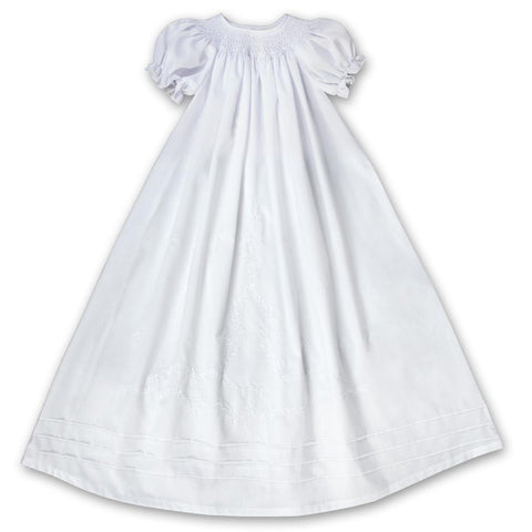 White Smocked Bishop Christening Gown 17AYR 5949 CG