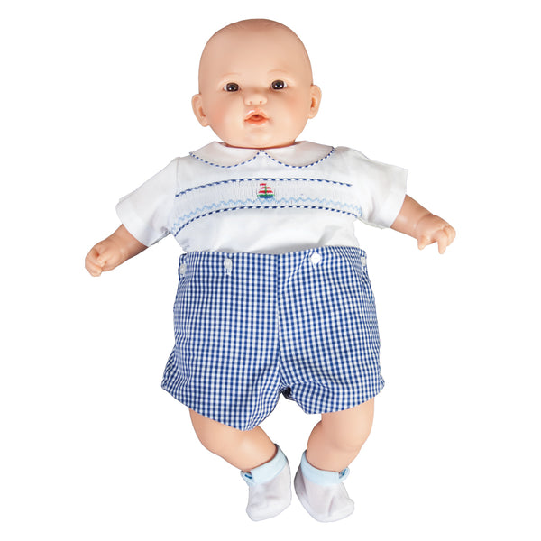 "Henry Brown Eye Bald 18"" Naked Baby Doll 46000 BR"