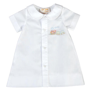 Train Shadow Embroidered White Boy Daygown 17SP AYR 6035 DGB