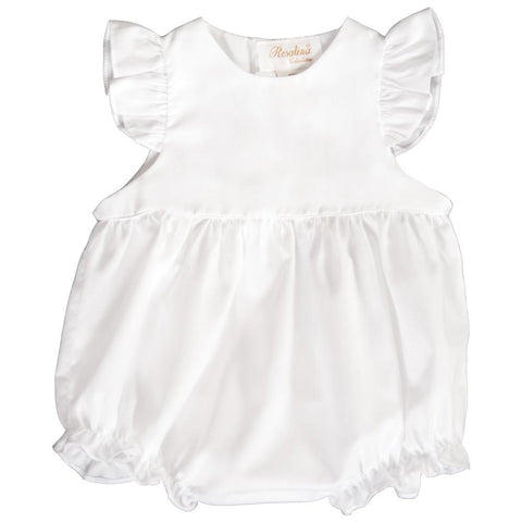 White Ruffled Girl Angel Sleeve Bubble 18 AYR 6040 BUG WHT
