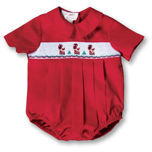 Dashing Reindeer Red Smocked Boy Bubble 17H 6075 BUB