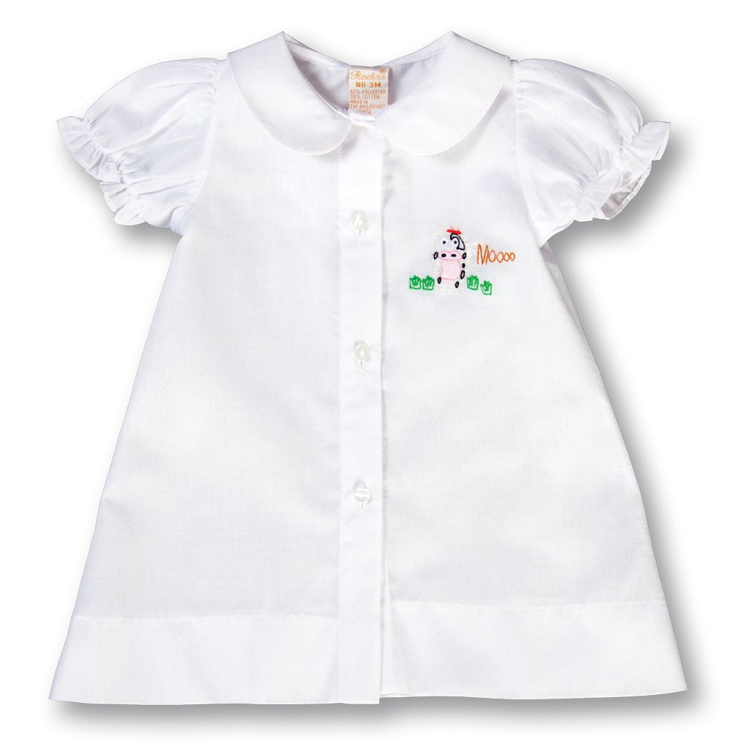 Moo Cow Shadow Embroidered White Girl Daygown 17F 6088 DGG