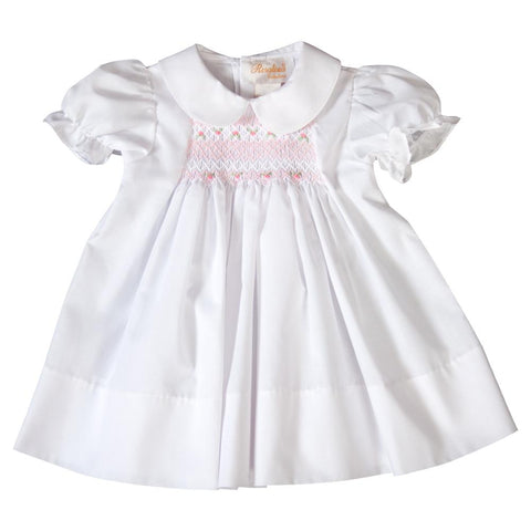 Elouisa English Smocked White Baby Dress 19SP 6379 D