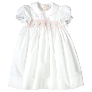 Mary Off White English Smocked Baby Dress 19SP 6385 D