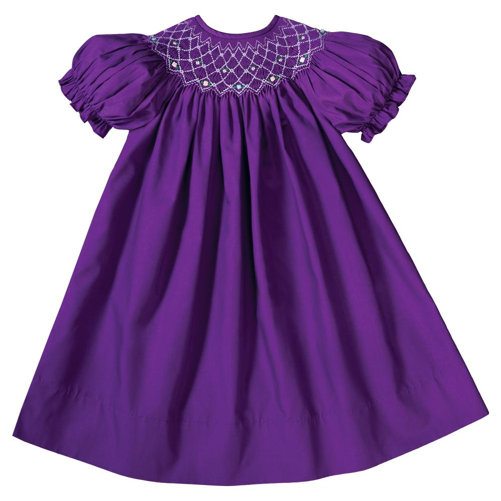 Jessica Purple English Smocked Bishop 19F 6606 A
