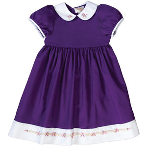 Bullion Flowers Royal Purple Baby Dress w/Cap Sleeves 19F 6644 D