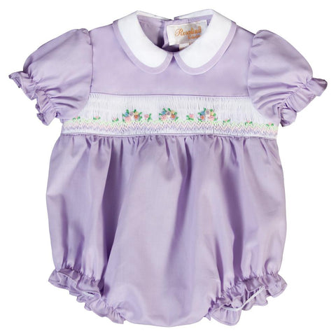 Lavender Bullion Smocked Girl Bubble 20SP 6686 BUG
