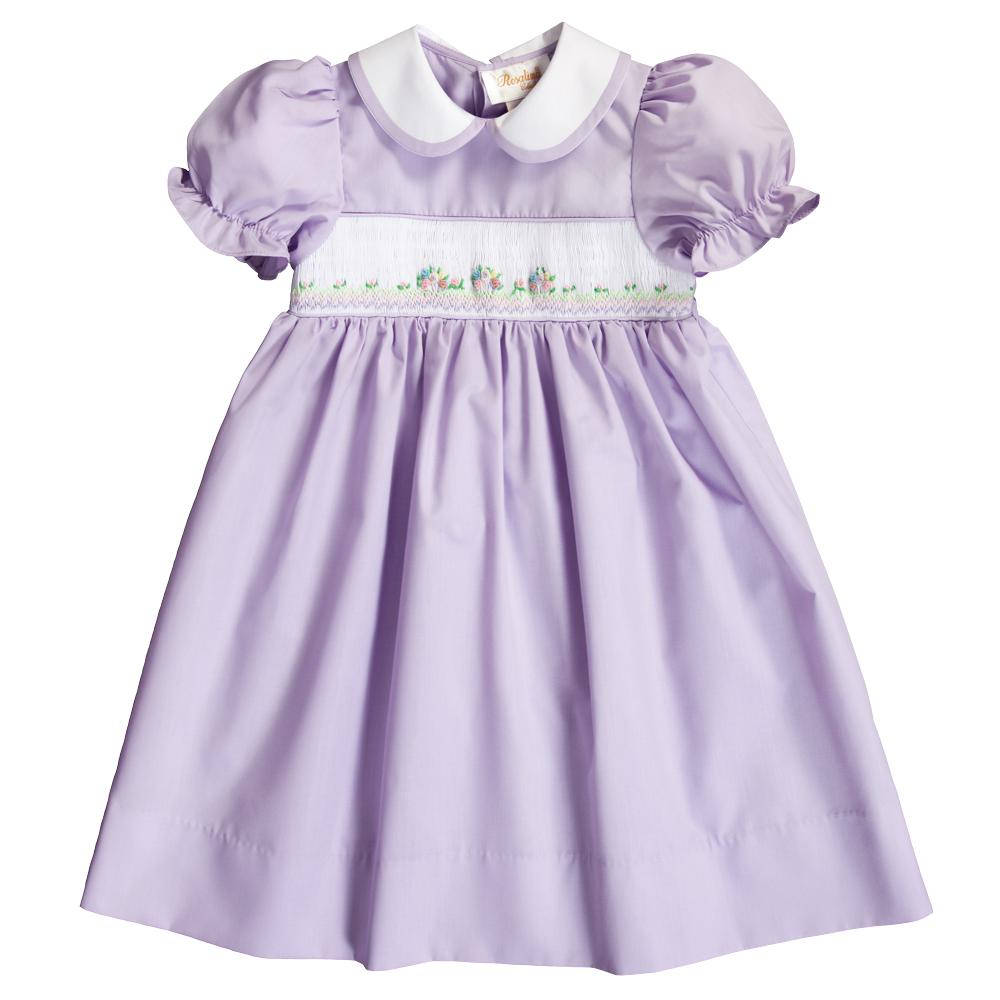 Lavender Bullion Smocked Baby Dress 20SP 6686 D