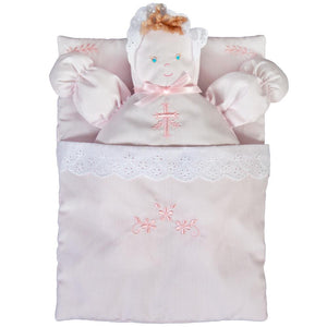 Pink Bunting Doll with Cross Design Embroidery 7190 PK