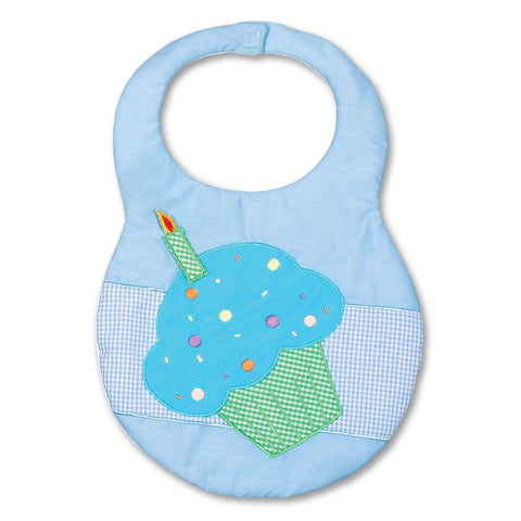 Blue Cupcake Birthday Bib 7297 BIB