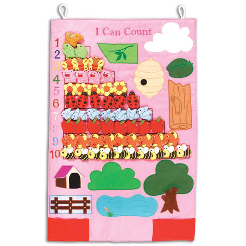 Pink I Can Count Wall Hanging 7408PK
