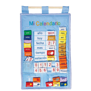 "Blue ""Mi Calendario"" Spanish My Calendar 7517"
