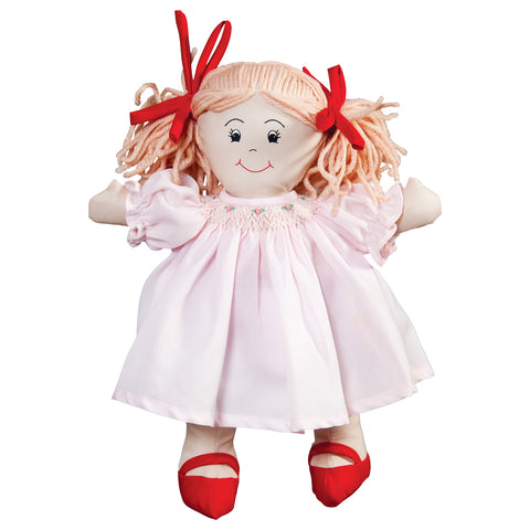 Happy Harriet Rag Doll in Pink Bishop Doll Dress 757