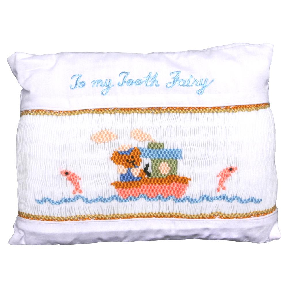 Boating Bear Smocked Toothfairy Pillow 848