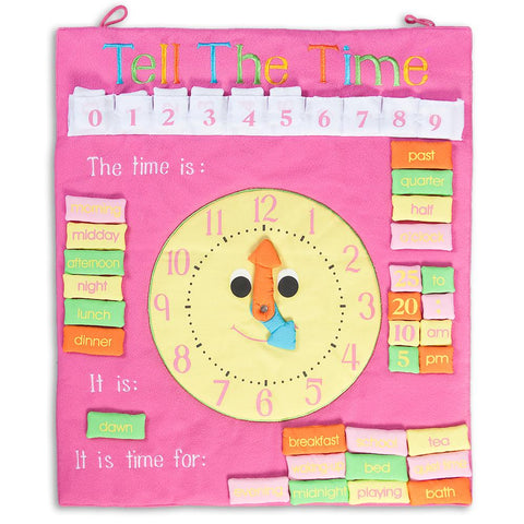 Tell the Time Pink Wall Hanging FO3549
