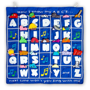 I Know My ABC's Blue Wall Hanging FO7131 SSC BL