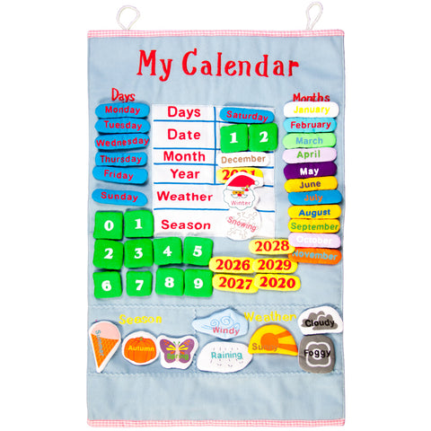 Blue My Calendar Wall Hanging FO 7351