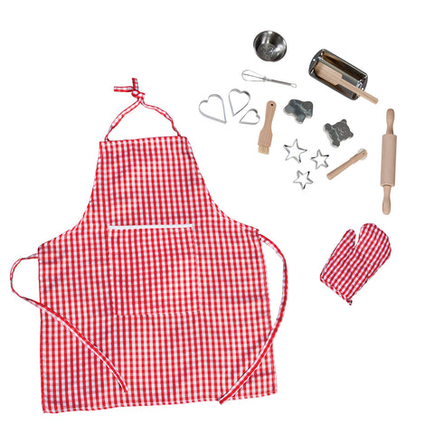 Silver & Red Gingham Baking Set 17PCS H0112A