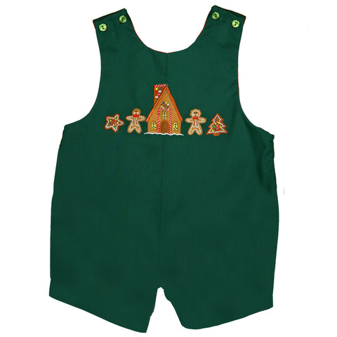 Gingerbread Family Green Romper 07H H2545 SS