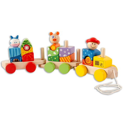 Wooden Animal Block Train ZH22518