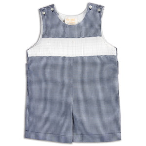 Navy Gingham Ready-to-Smock Romper AYR 5632 R NVY