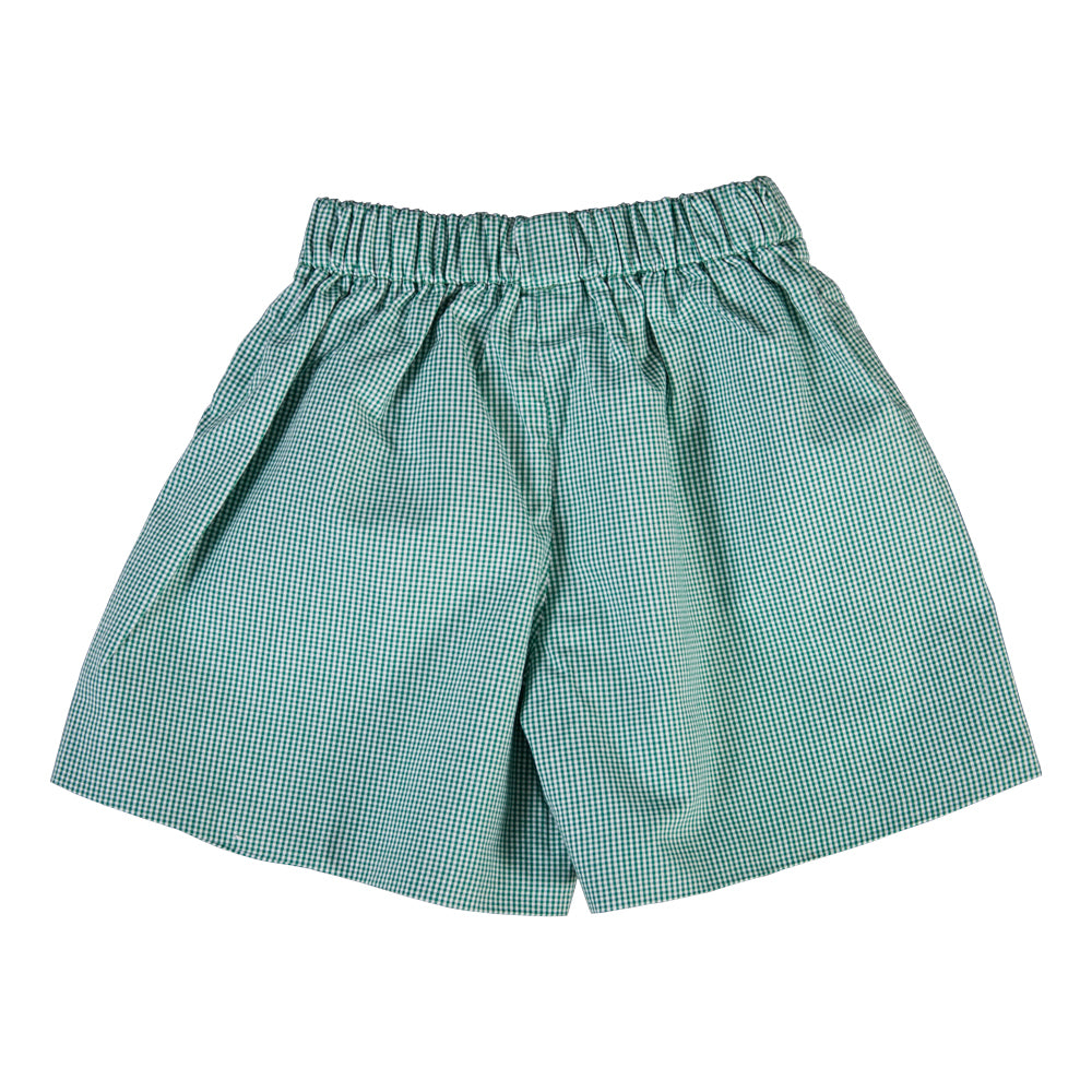 Green Tiny Gingham Shorts FO 5633