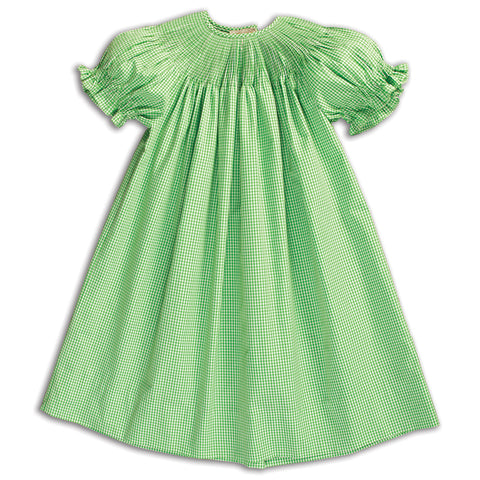 Mint Green Gingham Ready-to-Smock Bishop AYR 5844 A MGR