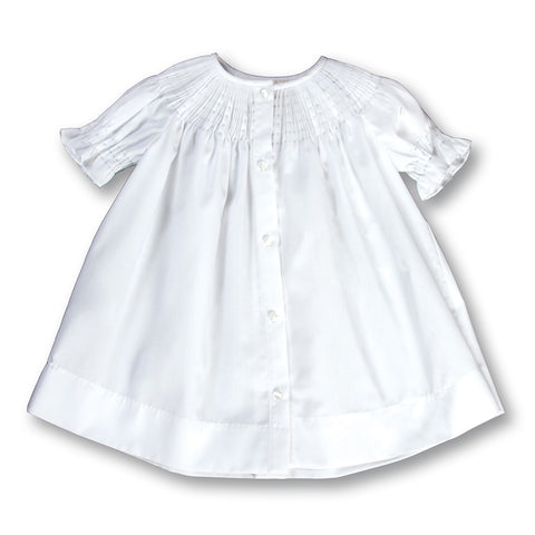 Plain White Ready-to-Smock Daygown AYR 5845 DGG