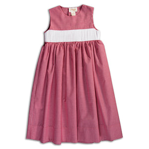 Red Gingham Ready-to-Smock Sundress AYR 5847 SD