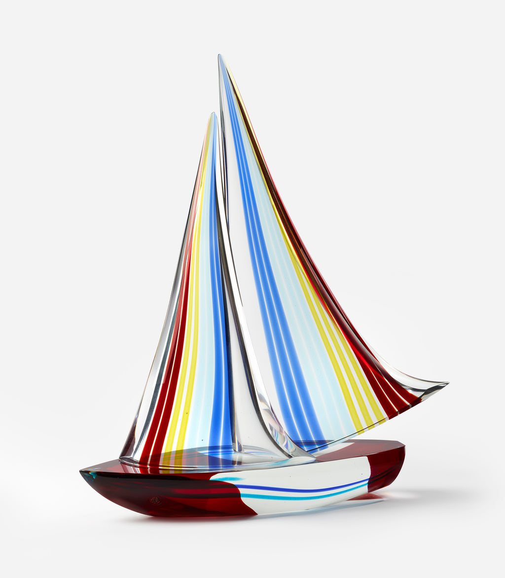 Poster - of a Murano glass sculpture of a gorgeous sailboat