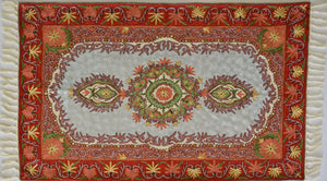 Silk Embroidered Rug or Wall Hanging #7 - Exquisiti