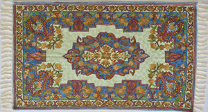 Silk Embroidered Rug or Wall Hanging #9 - Exquisiti