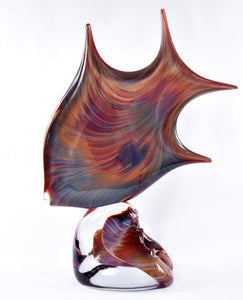Chalcedony Fish - Murano art work from Glass Master Dino Rosin