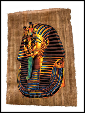 Painting of the Golden Mask of King Tutenkhamen (King Tut)