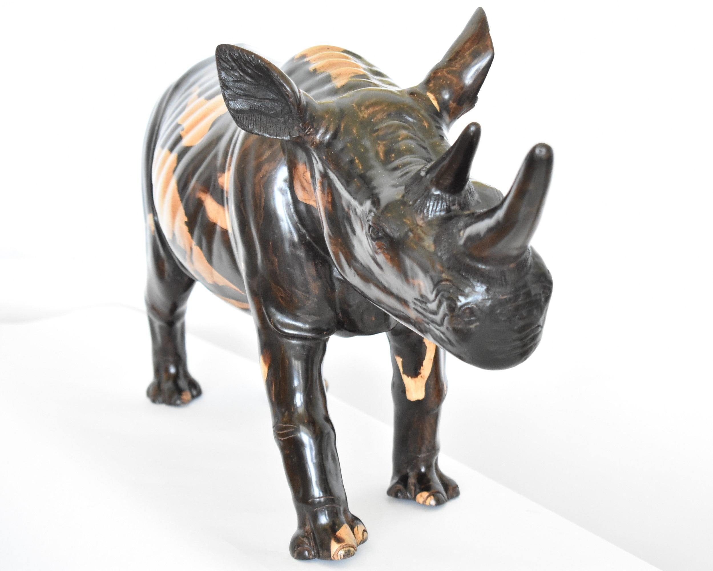 Exceptional Rhino carving from pure ebony wood - Africa Art, Exquisiti