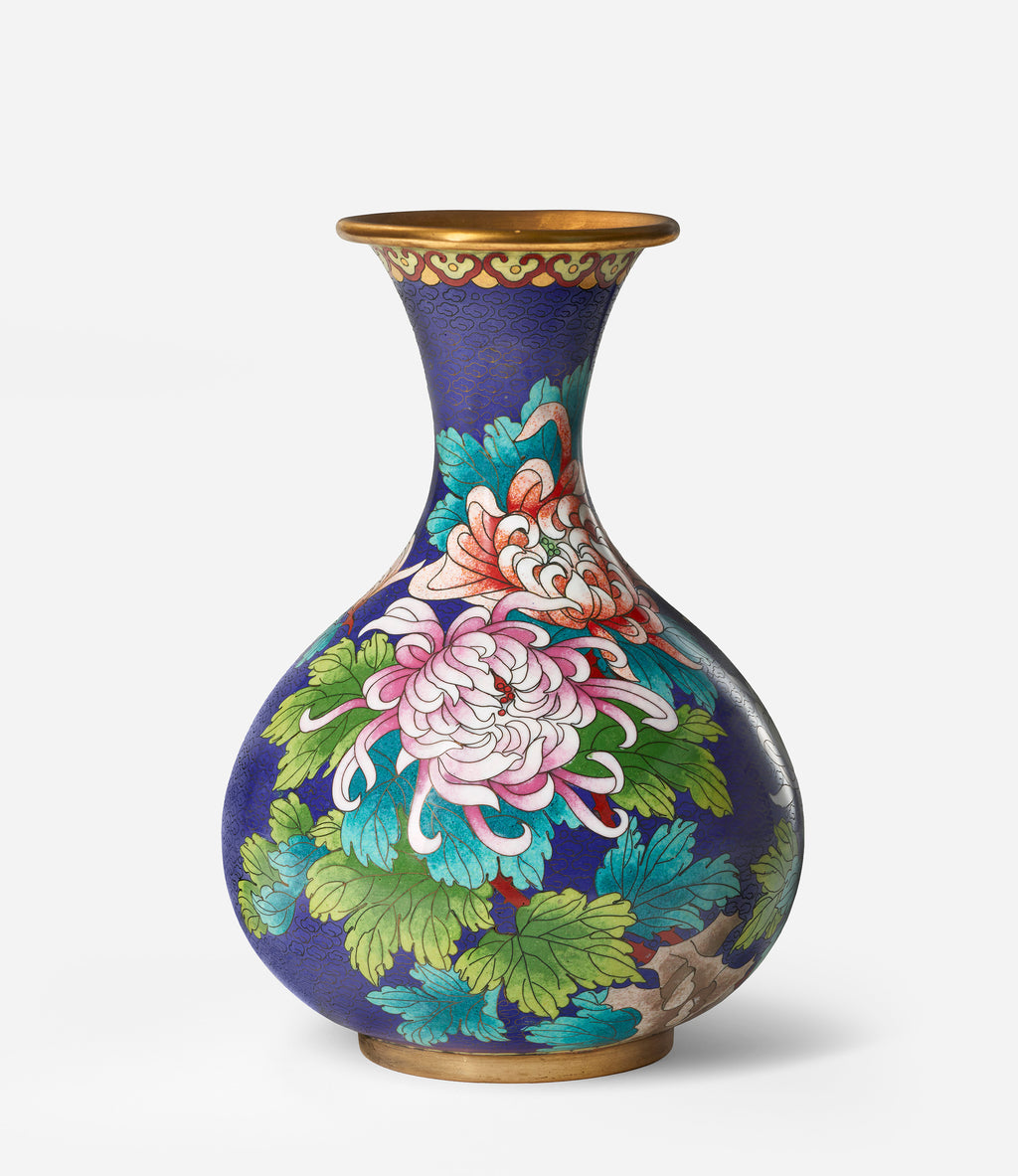 Poster - of a colorful Cloisonne vase from China