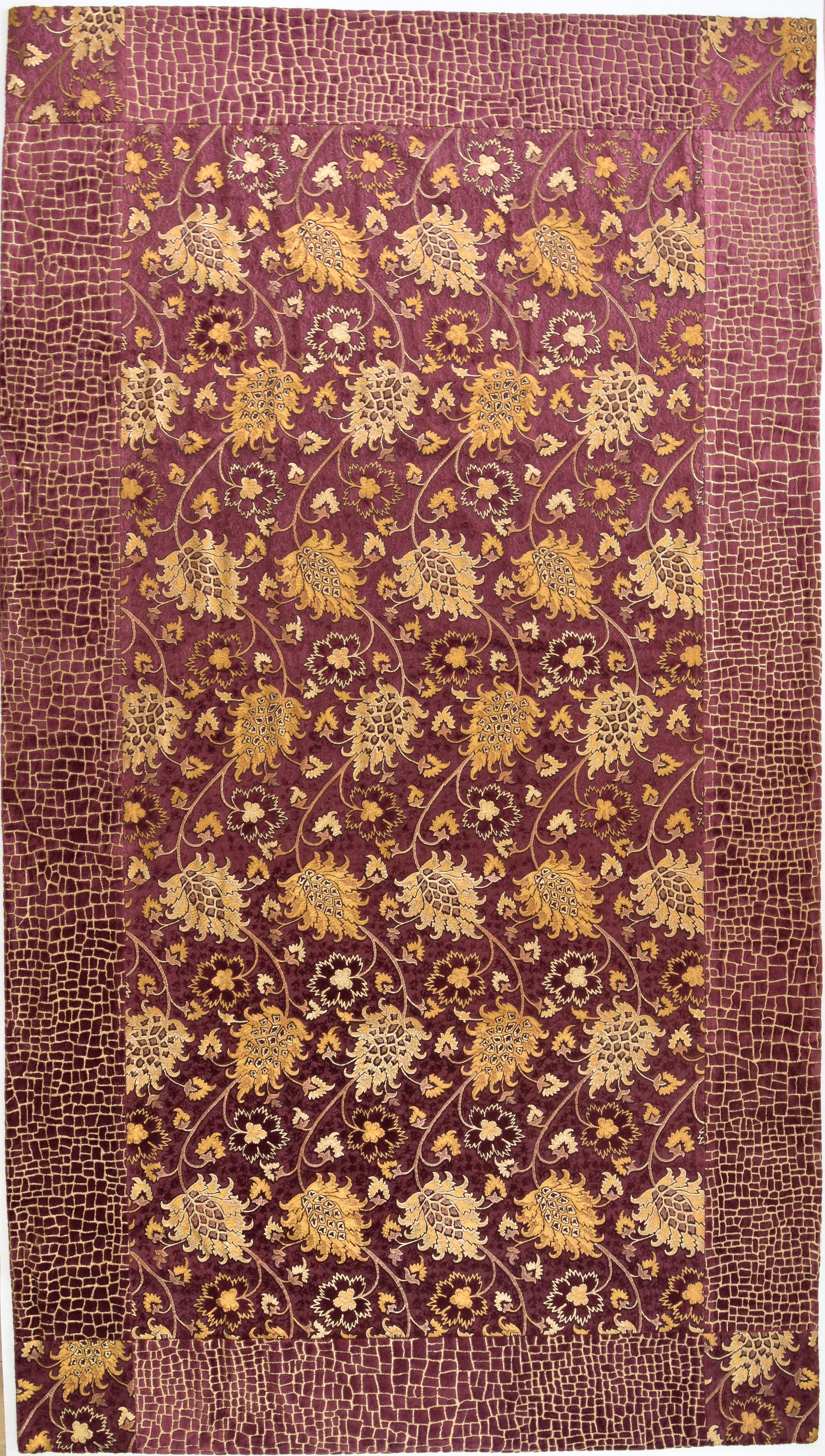 Maroon and Gold floral wall hanging - from Venetia Studium - Exquisiti